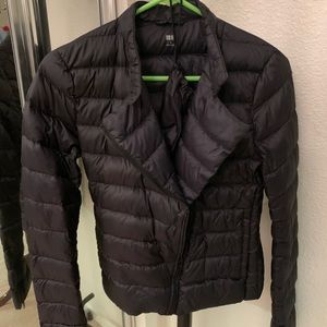 Uniqlo Super Light Down jacket Motorcycle style